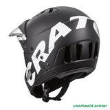 cratoni shakedown black matt mtb helm full face - nieuwe mountainbike helm achter