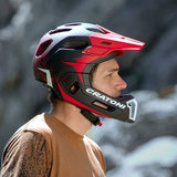 cratoni shakedown black matt mtb helm full face - nieuwe mountainbike helm action