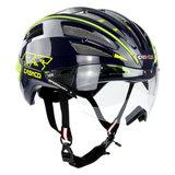 casco speedairo 2 rs blauw neongeel race fiets helm - beste racefietshelm - zij