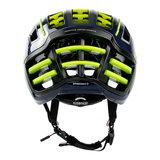 casco speedairo 2 rs blauw neongeel race fiets helm - beste racefietshelm- achter