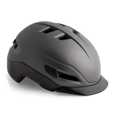 MET Grancorso Antraciet - Speed Pedelec helm - Kan met vizier en verlichting!