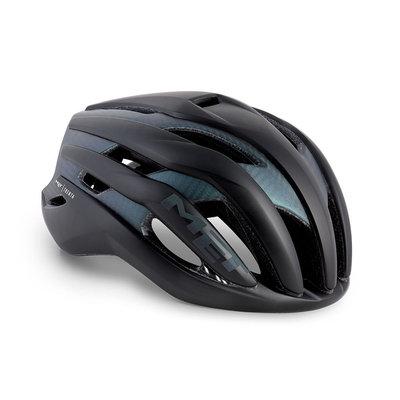 MET Trenta 3K carbon zwart iridescent racefiets helm - slechts 215 gram! - kan ook met verlichting