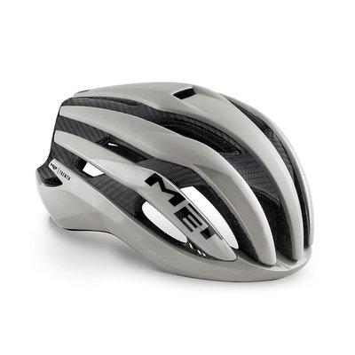 MET Trenta 3K carbon grijs racefiets helm - slechts 215 gram! - kan ook met verlichting