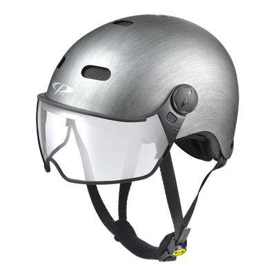 CP Carachillo E-bike helm Metallic - trendy fietshelm met vizier voor brildragers ideaal
