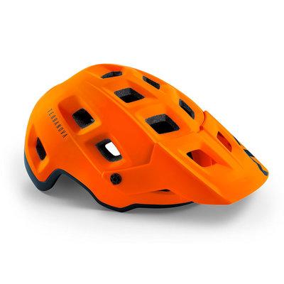 MET Terranova mtb helm oranje - met afneembaar vizier - kan optioneel met verlichting