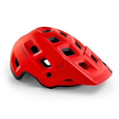 MET Terranova mtb helm rood - met afneembaar vizier - kan optioneel met verlichting