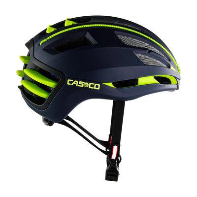 Casco SPEEDAIRO 2 blauw-geel - kan met vizier! - Pedelec helm - Schaatshelm - Race fiets helm