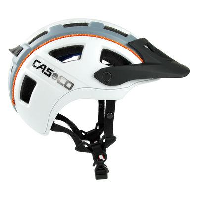 Casco MTBE 2 wit grijs mtb helm - trendy mountainbike helm - heerlijke pasvorm