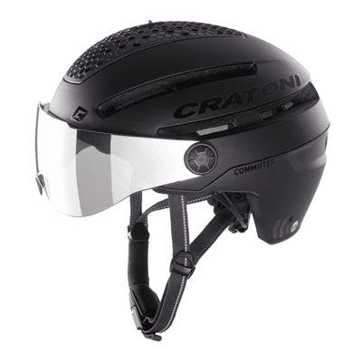Cratoni Commuter zwart mat - Pedelec Helmet with visor, led light & Reflectors