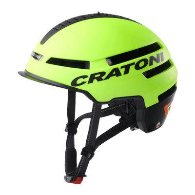 Cratoni Smartride neon geel - Pedelec helm - Fietshelm met Speakers - Licht en App