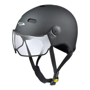 cp270110-cp carachillo zwart e bike helm - fietshelm met vizier