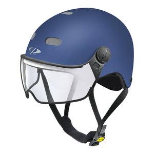 cp270610-carachillo e bike helm blauw - beste fietshelm met vizier voor brildragers