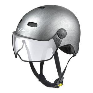 cp270410-carachillo e bike helm metallic - beste fietshelm met vizier voor brildragers